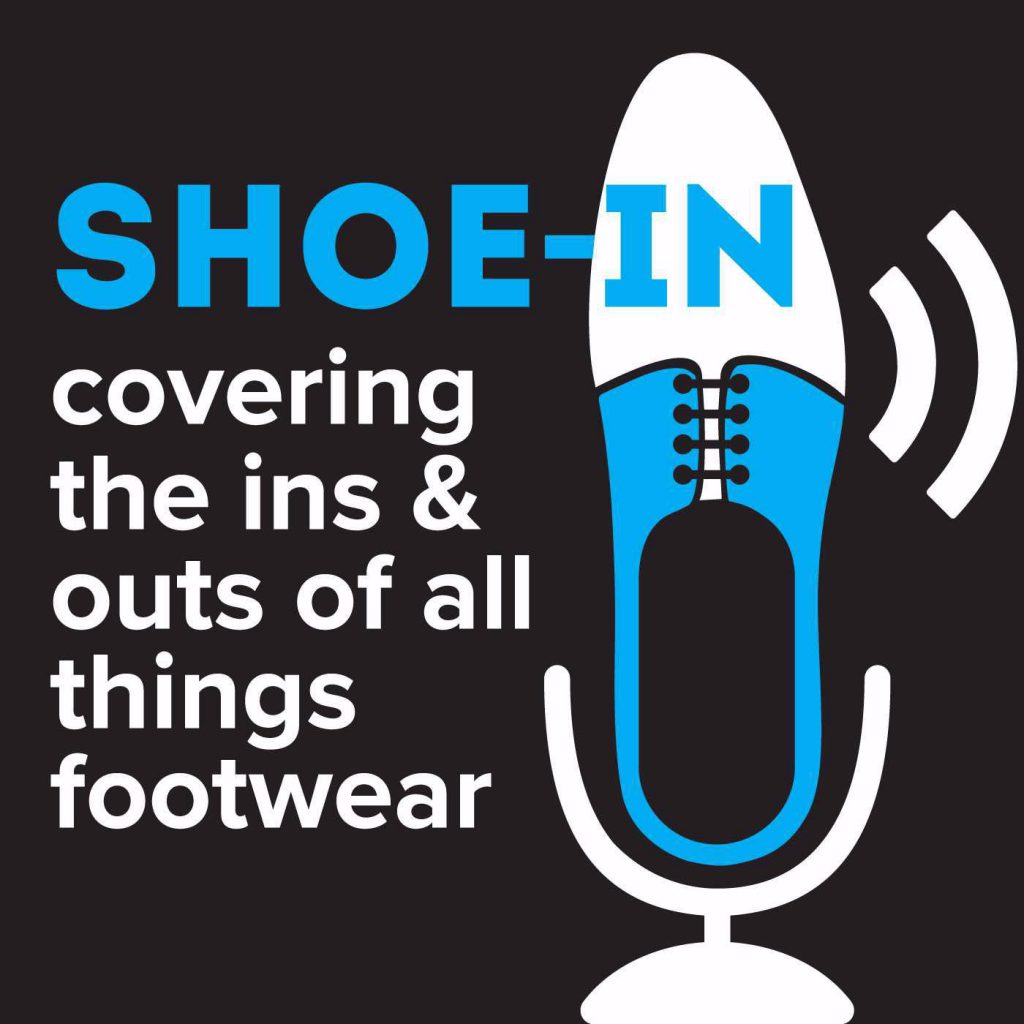 """Shoe-In covering the ins & outs of all things footwear"" inline with the shoe-in logo"