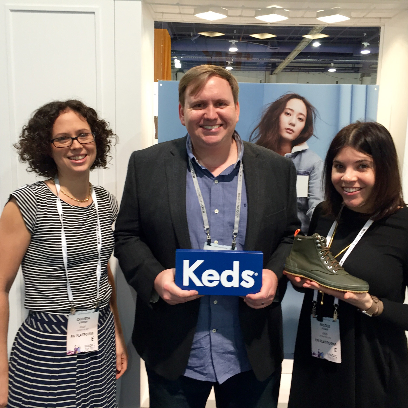 Christa O'Brien, Director of Sales, Keds and Nicole Julian, International Marketing Manager, Keds